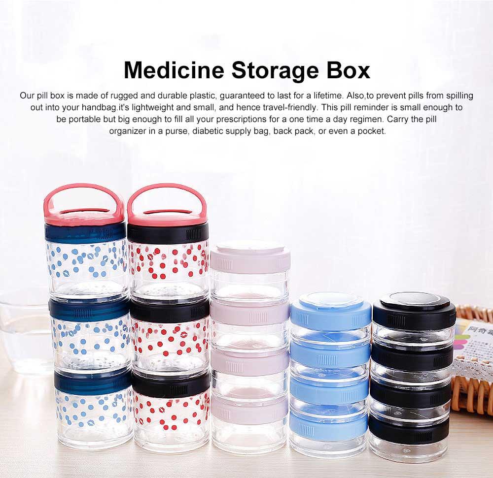 Medicine Storage Box Fashion Portable Environmentally Friendly Non-toxic PP Box for  Drug Storage Box 0