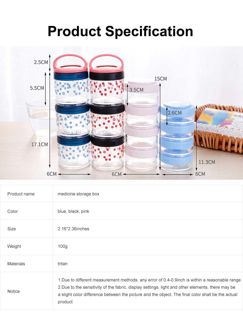 Medicine Storage Box Fashion Portable Environmentally Friendly Non-toxic PP Box for  Drug Storage Box 6