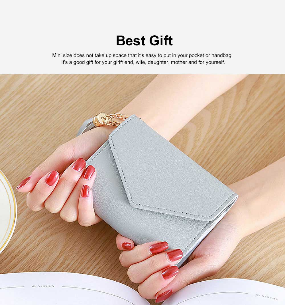 Women Coin Purse with Retro Tassel Pendant Ladies PU Leather Purse Women Fashion Accessories Short Travel Clamshell Purse Clutch 4