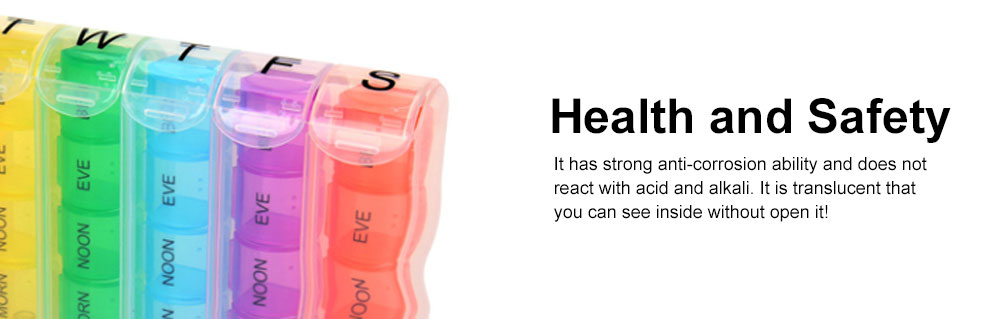 Pill Box with Creative Design Spring Type 28 Compartments Detachable Plastic Storage Box for Medicine Candy 2