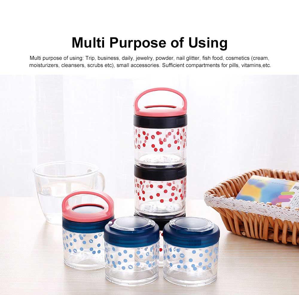 Medicine Storage Box Fashion Portable Environmentally Friendly Non-toxic PP Box for  Drug Storage Box 1
