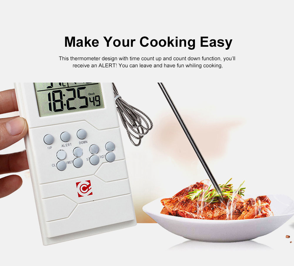 Food Thermometer Remote Cooking Food Barbecue Digital Grill Thermometer Portable Kitchen Accessories Wireless Meat Thermometer 1