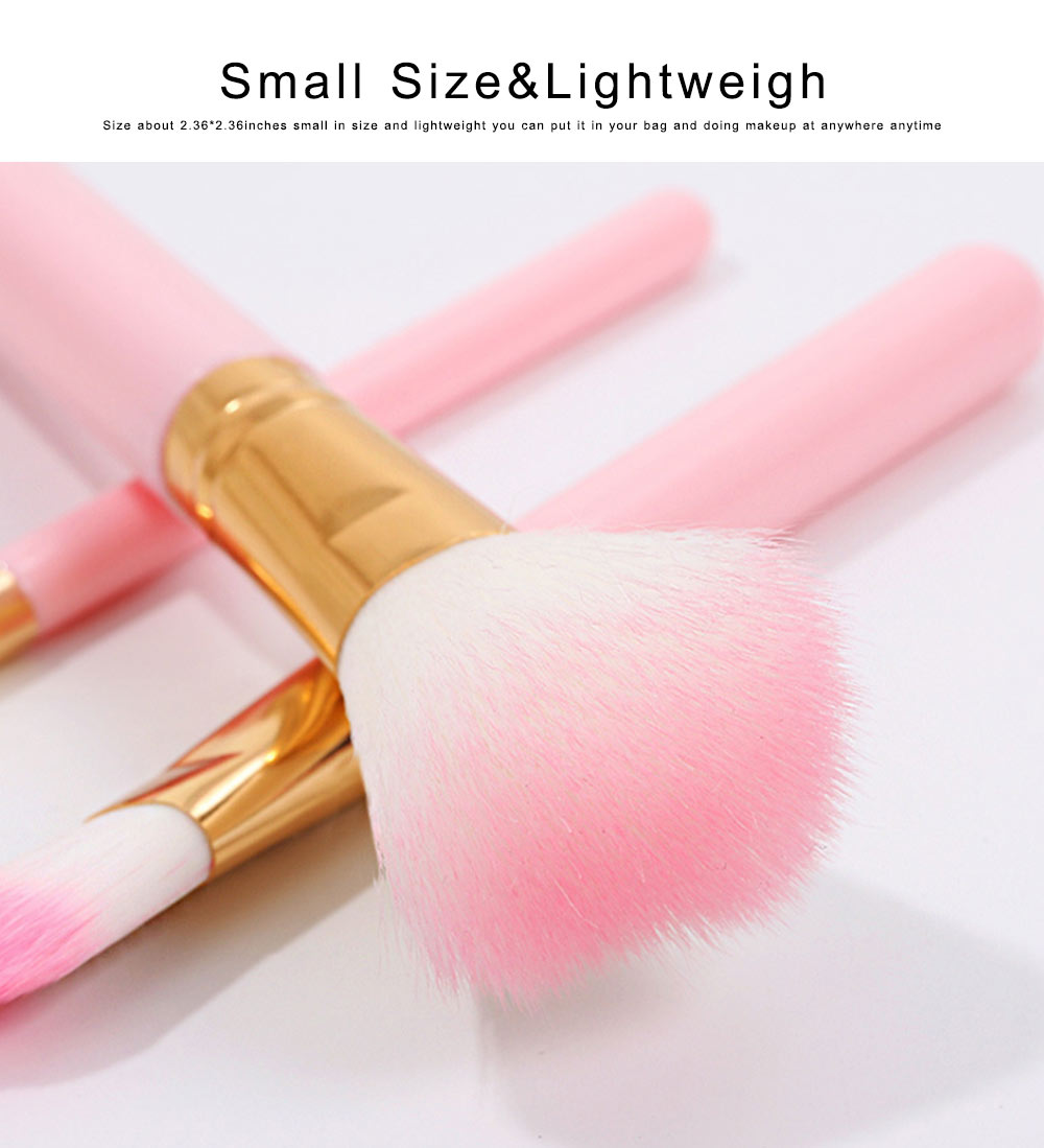 Makeup Brush Sets 10 PCS Makeup Brushes for Face Eyeshadow Eyebrow Blush Contour Foundation Fluffy Crease Cosmetic Brush Set Pink Best Gift for Lady Girl With Delicate Package Box 1