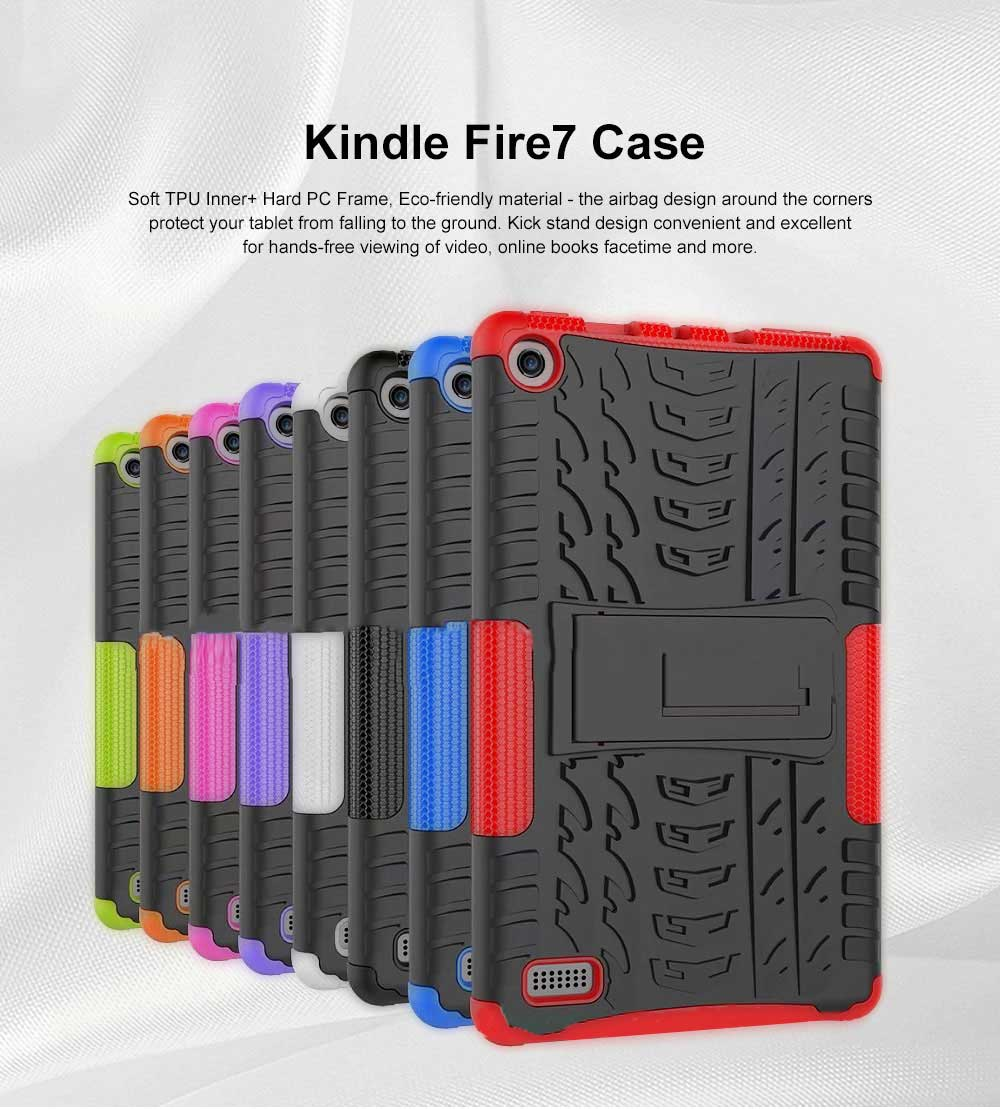 Full Protection Case for Kindle fire7 2017 Anti-slip Shockproof Impact Resistance Protective Case Cover with Kickstand 0