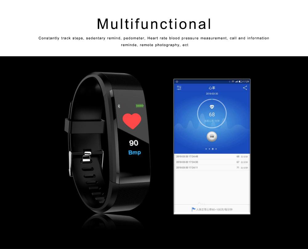 Bluetooth Smart Sports Bracelet, Waterproof Smart Activity Tracker Smartwatch Wristband for Men Women 5