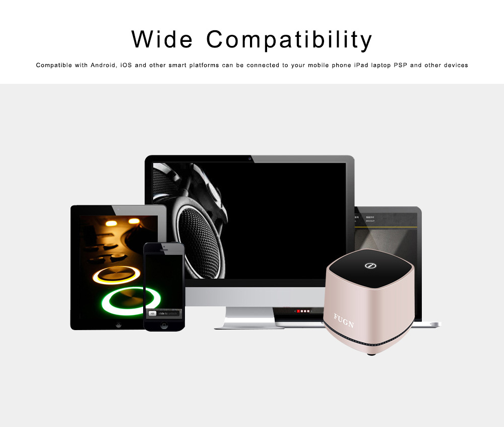 USB Speakers with 3D Sound Quality, Portable Mini Computer Speaker, Stereo Speakers for Phone iPod Laptop 4