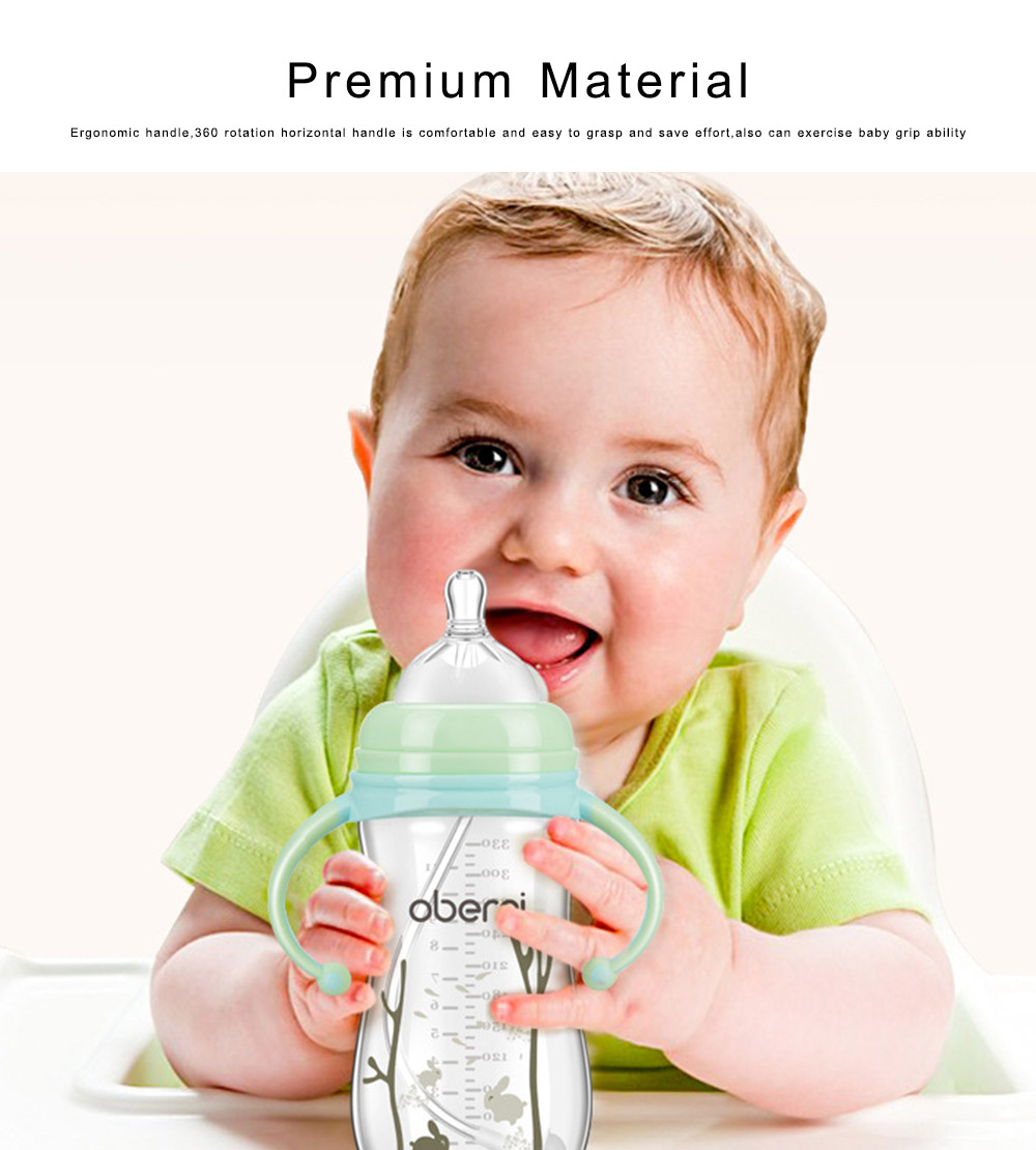 Baby Feeding Bottle Newborn Infant Wide Caliber Leakproof Milk Bottle Nursing Milk Water Drinking Suckle Feeder 3