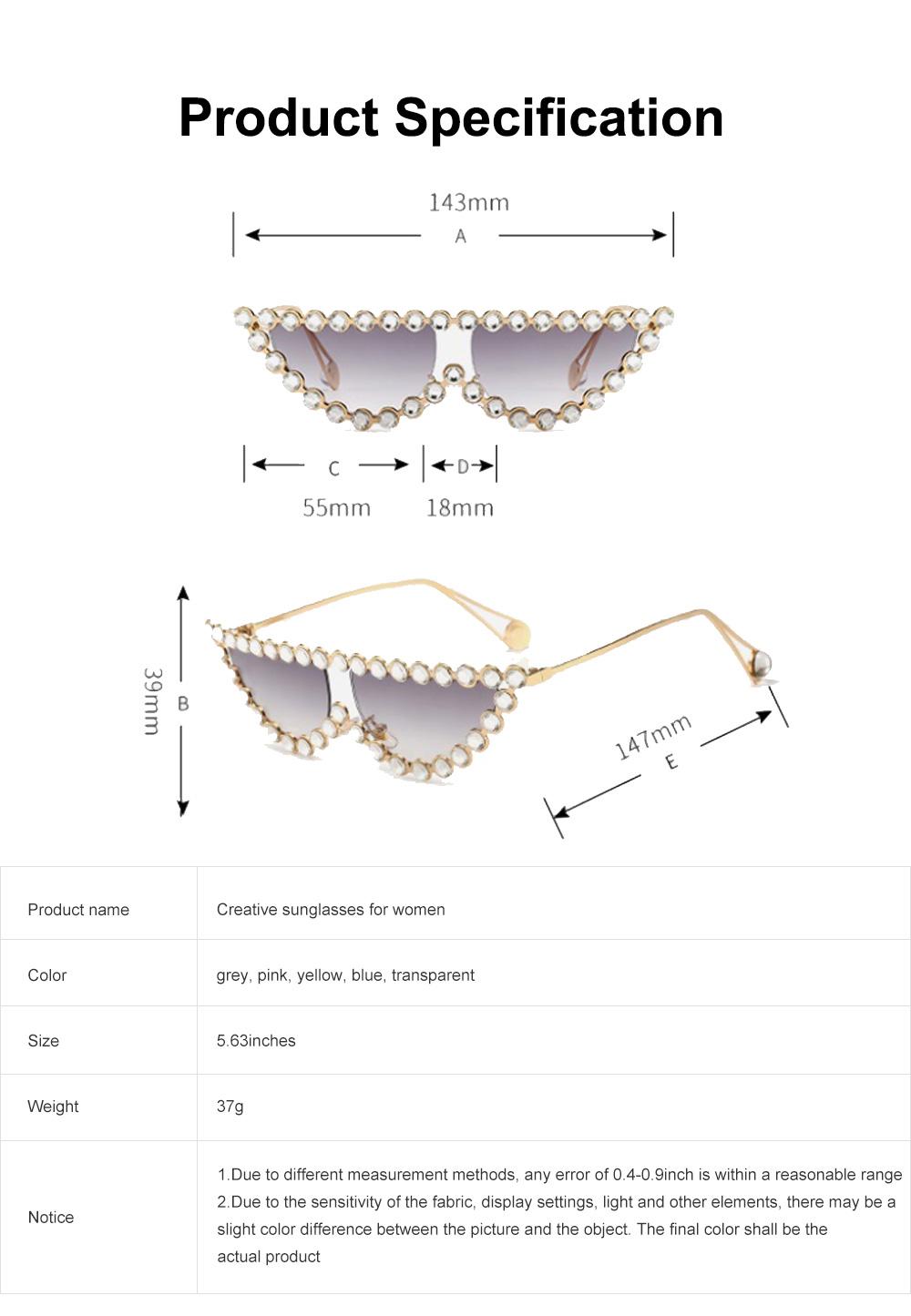 Women's Diamond Sunglasses Vintage Cat Eye Thin Metal Frame Sunglasses Fashion Accessories for Lady Women Girl 6