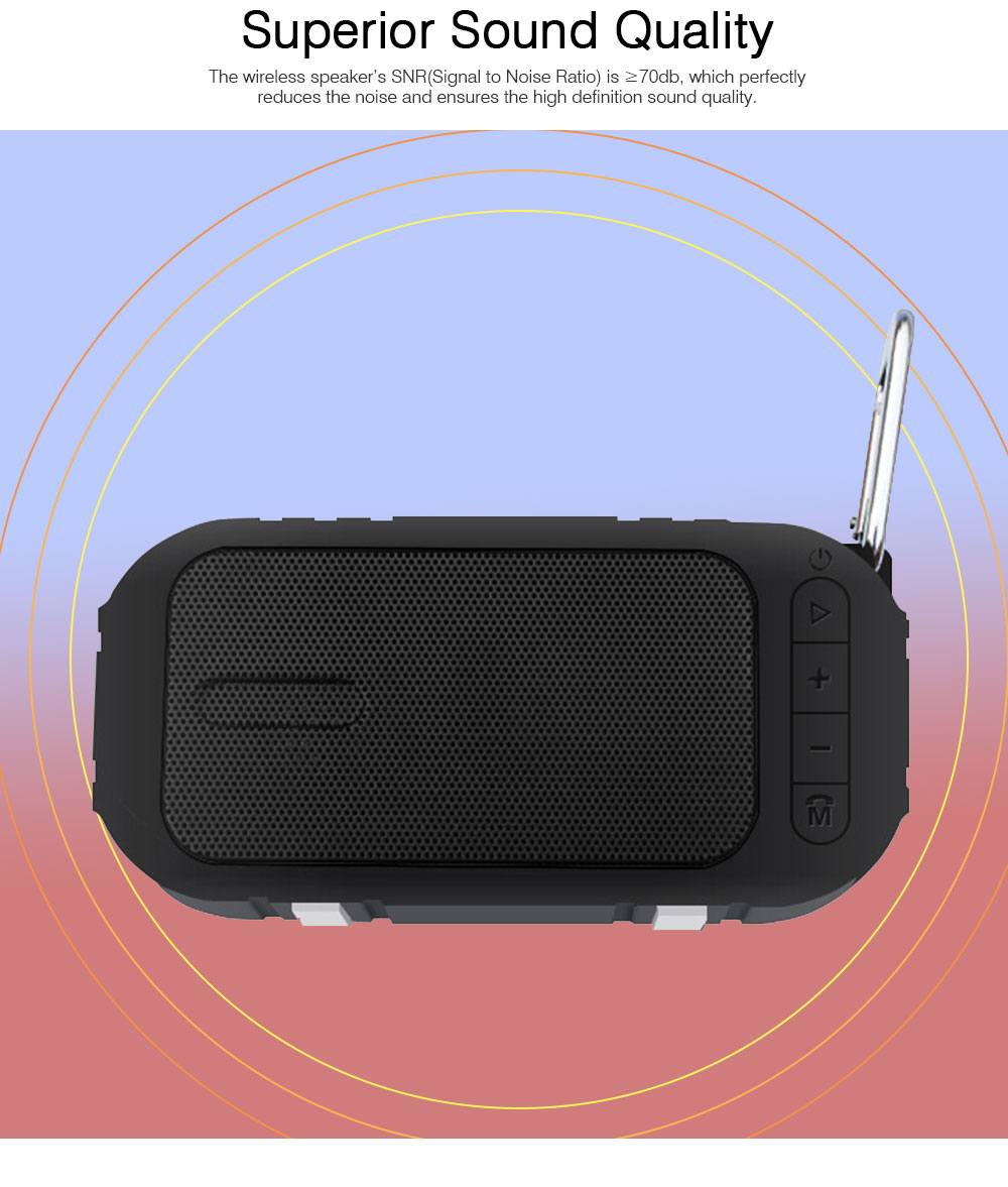 Wireless Bluetooth Speaker Compatible with Phone, Computer, Tablet, Vehicle System, Mini Chargeable Bluetooth Subwoofer with Extended Storage Speaker 5