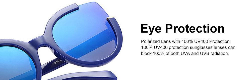 Oversized Cat Eye Sunglasses Creative Lightweight Thick Frame Sunglasses Polarized Trendy Mirrored Lens for Women 2