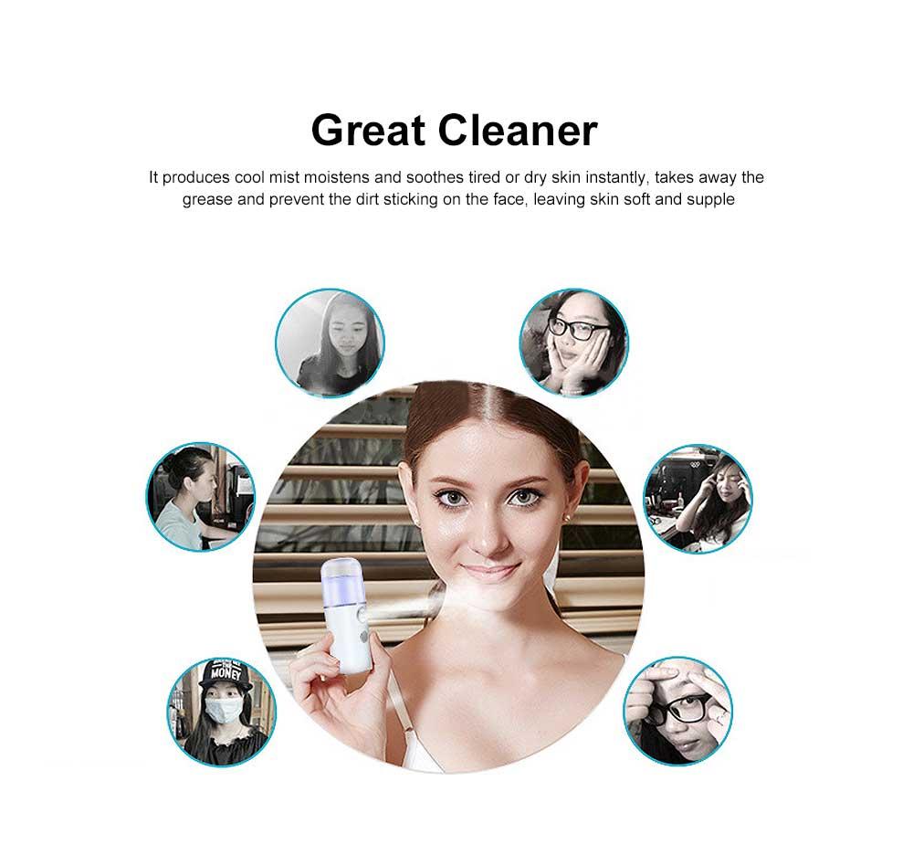 Nano Mist Sprayer Portable Mist Facial Sprayer USB Rechargeable Mini Beauty Skin Care Instrument 1