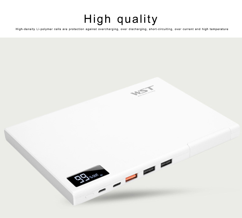 Laptop Power Bank 30000mAh Portable Smart Phone Type-C Charger with DC Output 5-12 for Fast Charging Digital Devices 1