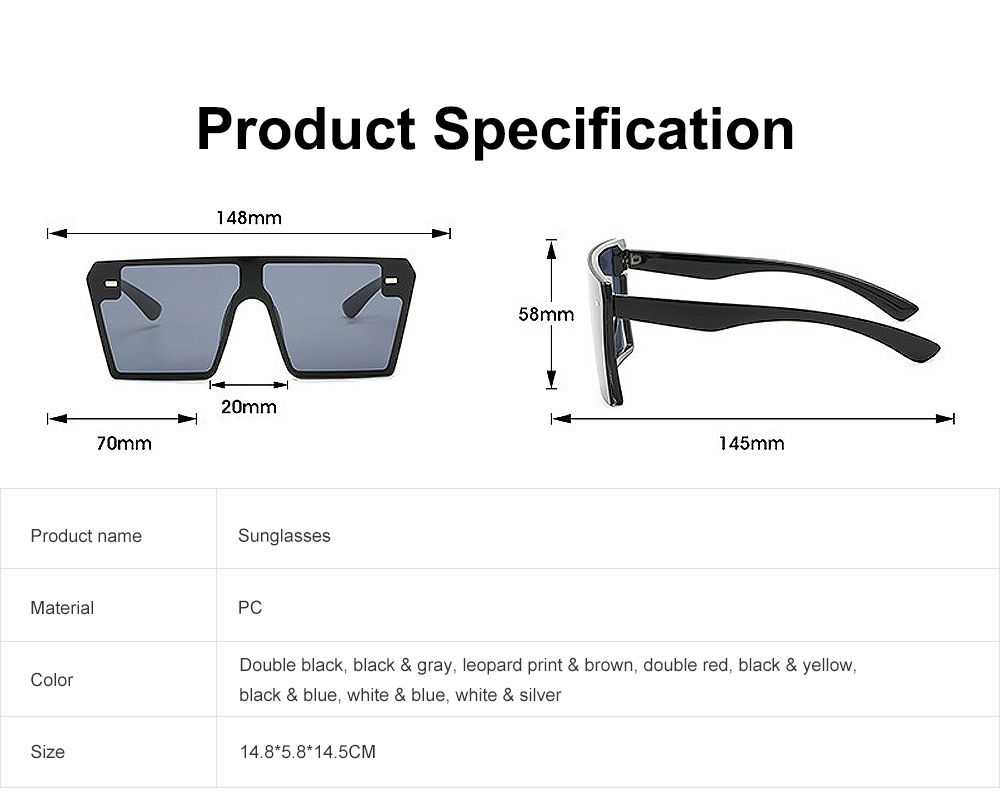 Frameless Unisex Sunglasses Gradient Colors Anti-Glare Lens with Comfortable Nose Pad UV Protection Sunglasses 7