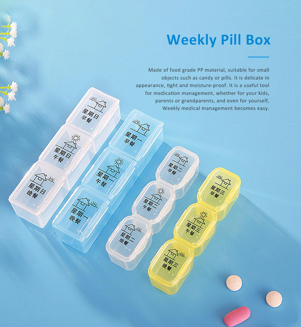 Weekly Pill Case for Home Travel, Monthly Pill Case Organizer, Food Grade Pill Case for Elderly and Children Medicine Container 0