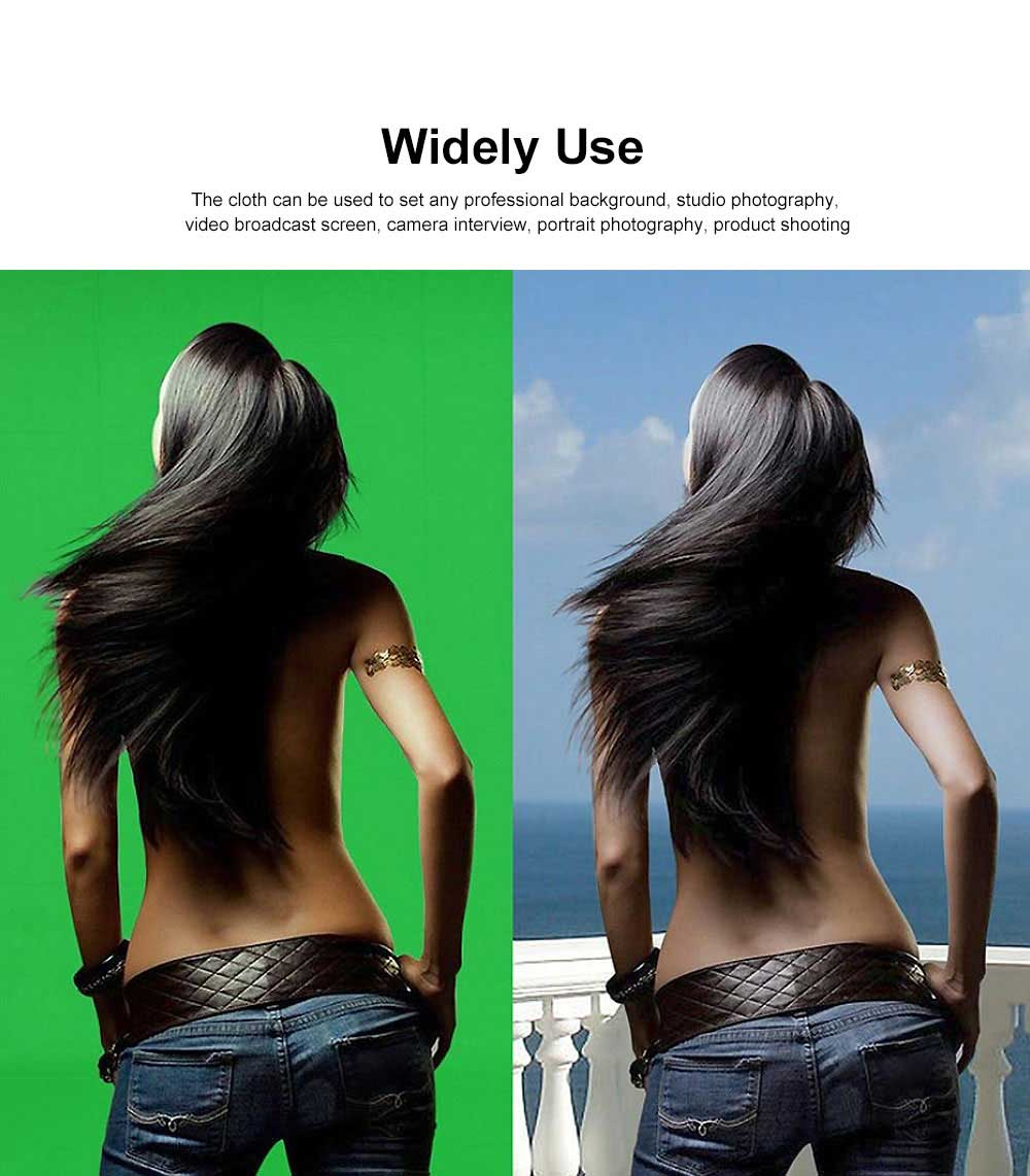 Green Screen Soft Cotton Cloth Studio Background ID Photo Photography Washable Backdrop 3x6M 1