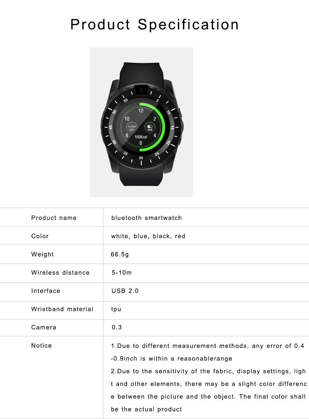 Bluetooth Smartwatch with HD Display, Wide Compatibility Power Watch with Camera, Sports Fitness Tracker, Music Player, Image Viewer 6