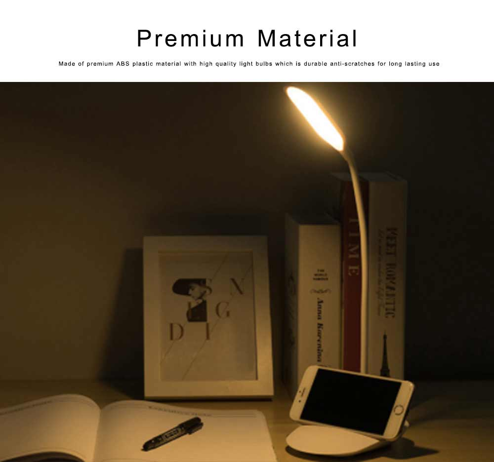 LED Reading Light for Working, Studying, Multifunctional Rechargeable Touching Desk Light Adjustable Table Lamp Bedside Lamp for Home Decor 3