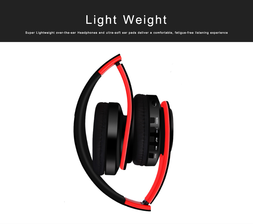 Bluetooth 4.2 Sport Headset Over Ear Headphones Lightweight Stereo Wireless Headphones earphone with 20m Transmission Range 3