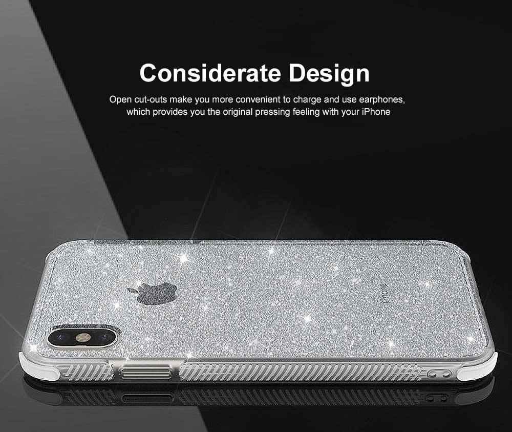 Semi-transparent Shiny Style iPhone Case TPU & TPE Shatterproof Soft Protective Case for iPhone XR, iPhone XS MAX, iPhone X or XS, iPhone 7 plus or 8 plus, iPhone 7 or 8, iPhone 6 or 6s Plus 4