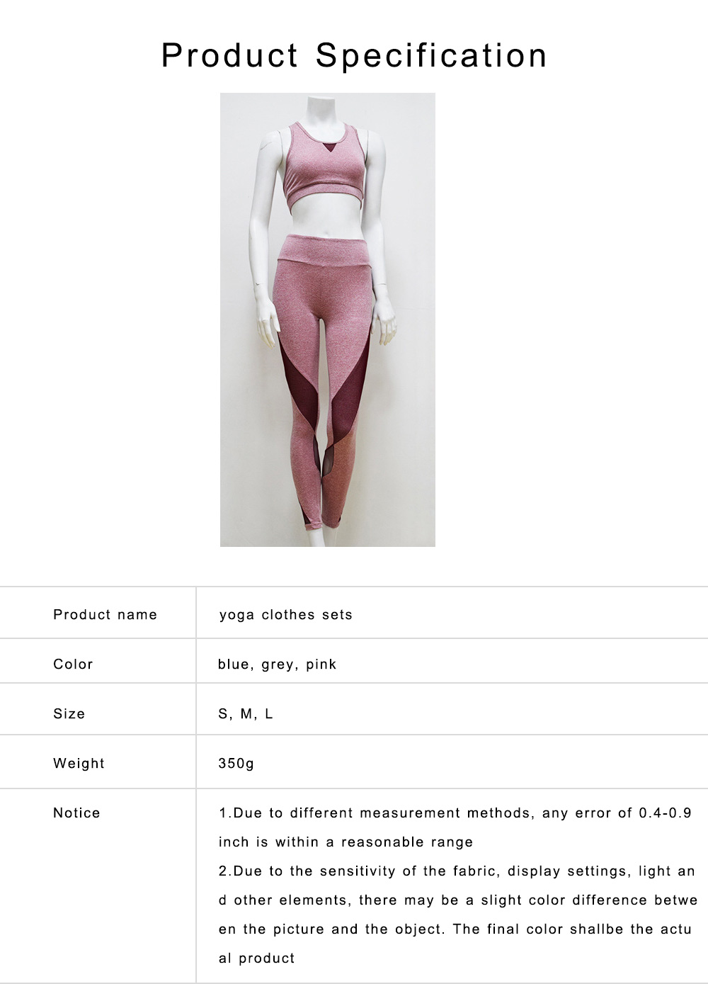 Yoga Clothes Sets Tank Top, High-Waist Leggings 2 Piece Sets for Women, Gym Clothes Set with High Elasticity 6
