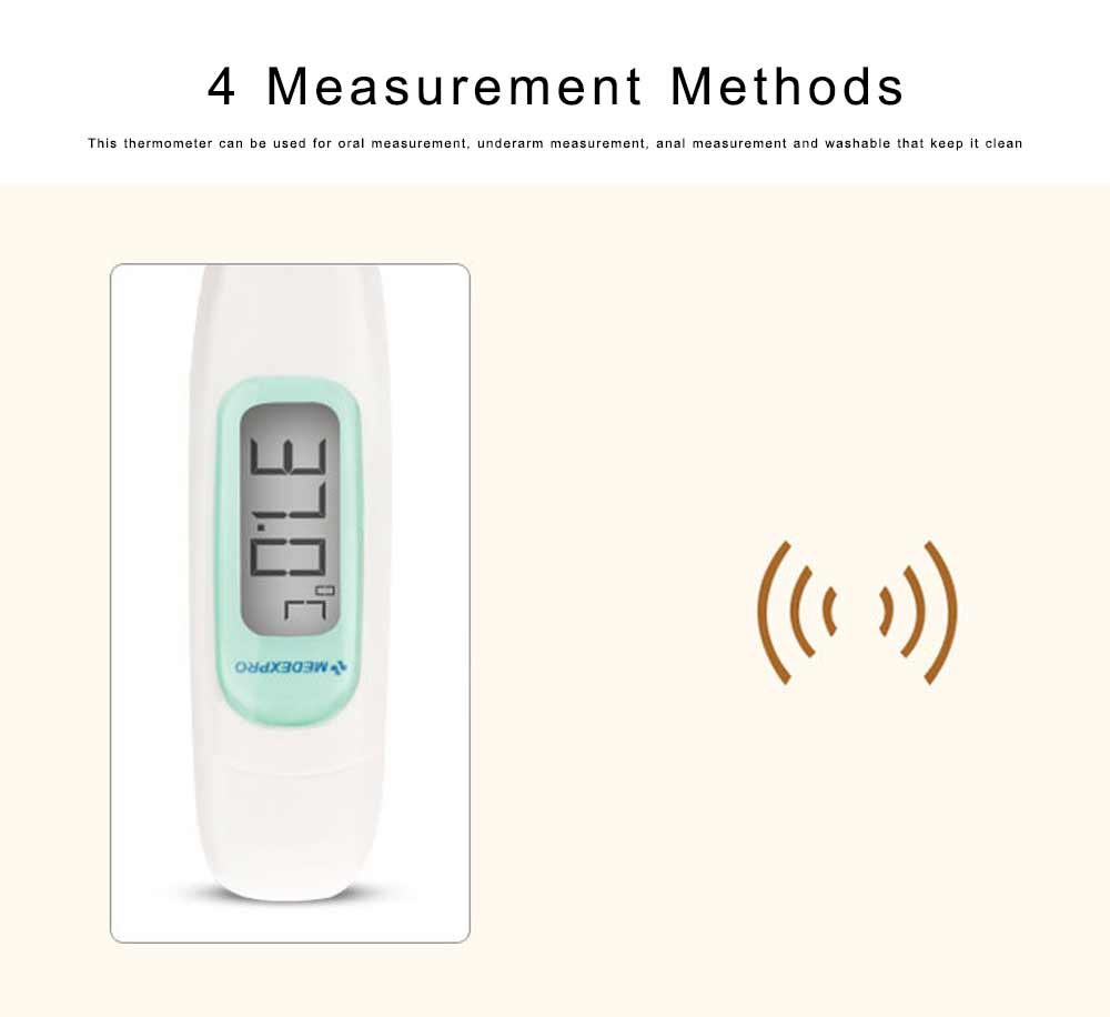 Digital Medical Thermometer Fast and Accurate Thermometer for Children Babies Adults Pets with Beeper Alarm 5