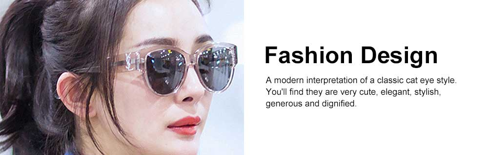 Women's Round Sunglasses Vintage Lightweight Thick Frame Eye Protection Sunglasses Fashion Accessories for Women Best Gift 4