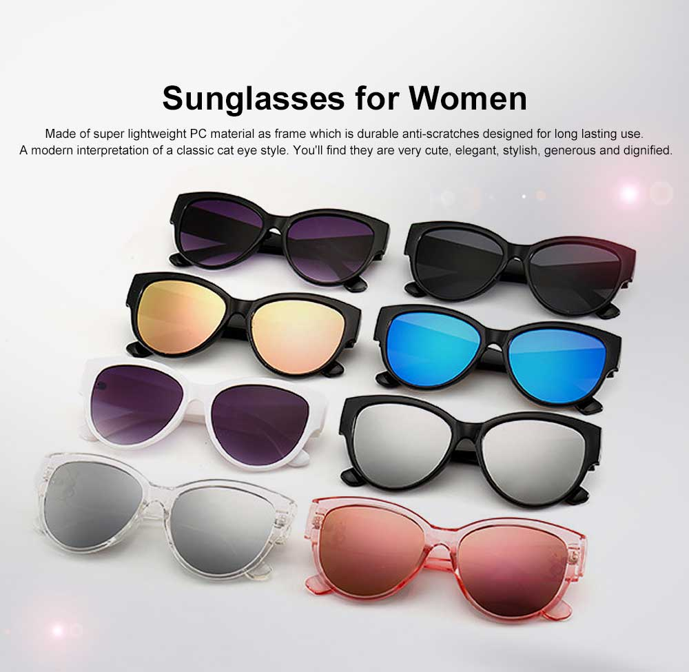 Women's Round Sunglasses Vintage Lightweight Thick Frame Eye Protection Sunglasses Fashion Accessories for Women Best Gift 0