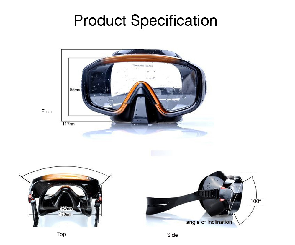 Swimming Goggle for Adult, Swimming Goggle with Breathing Tube, Anti-leak Goggle for Diving, Swimming, Snorkeling, Sea Water Corrosion Resistant Dive Mask 7