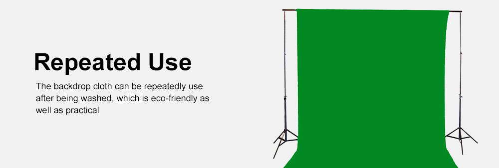 Green Screen Soft Cotton Cloth Studio Background ID Photo Photography Washable Backdrop 3x6M 5