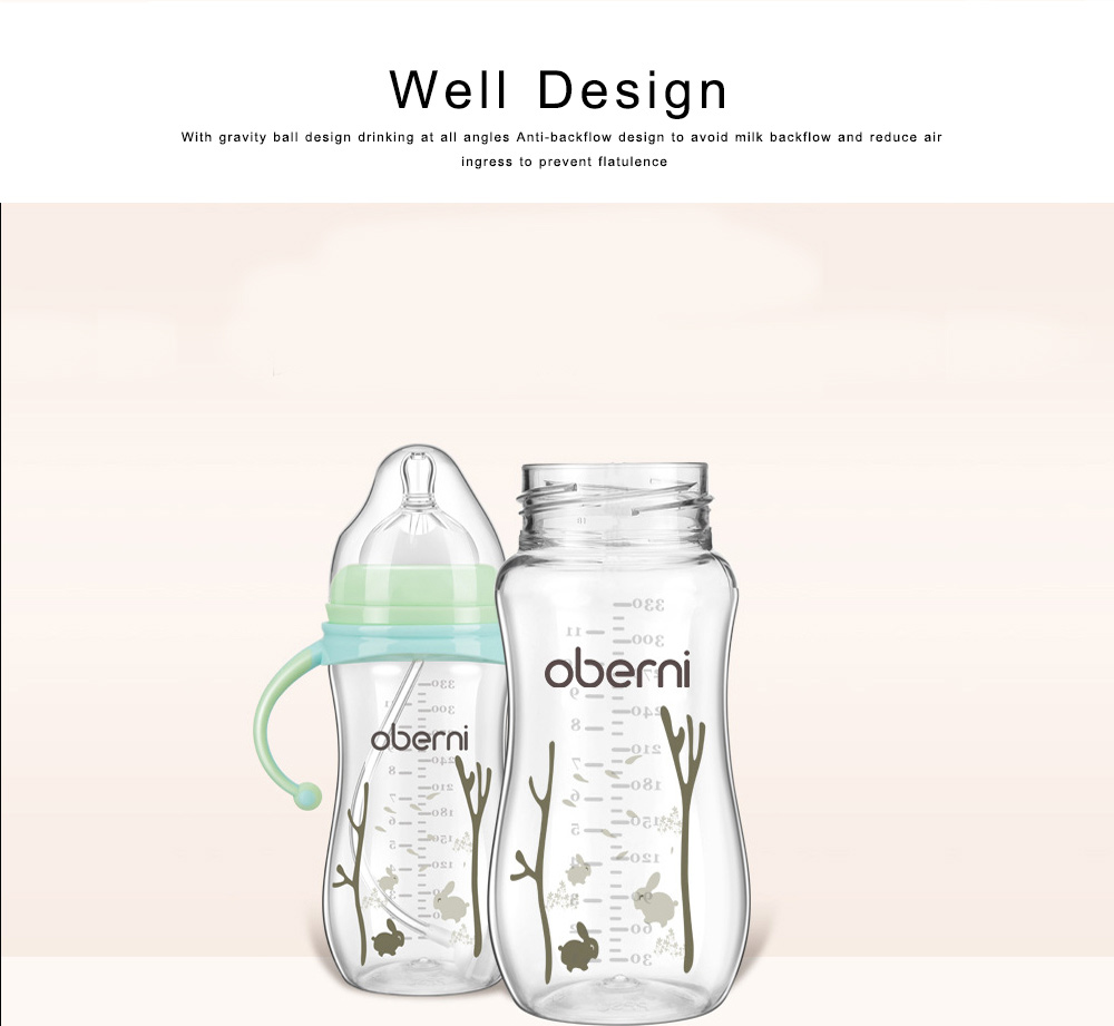 Baby Feeding Bottle Newborn Infant Wide Caliber Leakproof Milk Bottle Nursing Milk Water Drinking Suckle Feeder 1