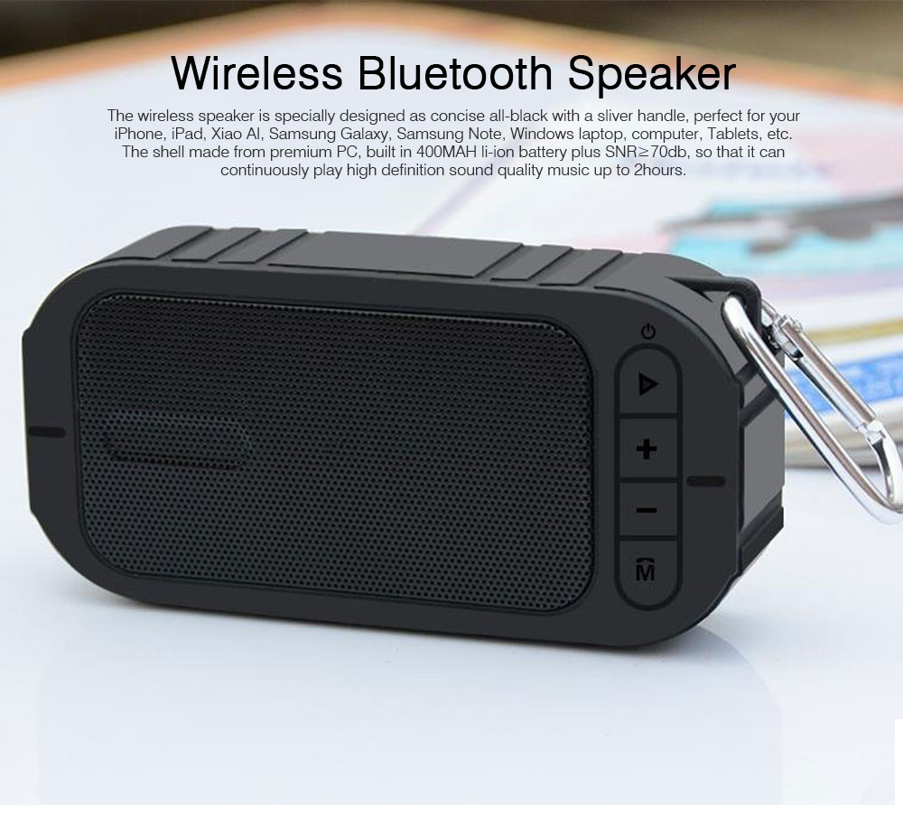 Wireless Bluetooth Speaker Compatible with Phone, Computer, Tablet, Vehicle System, Mini Chargeable Bluetooth Subwoofer with Extended Storage Speaker 0