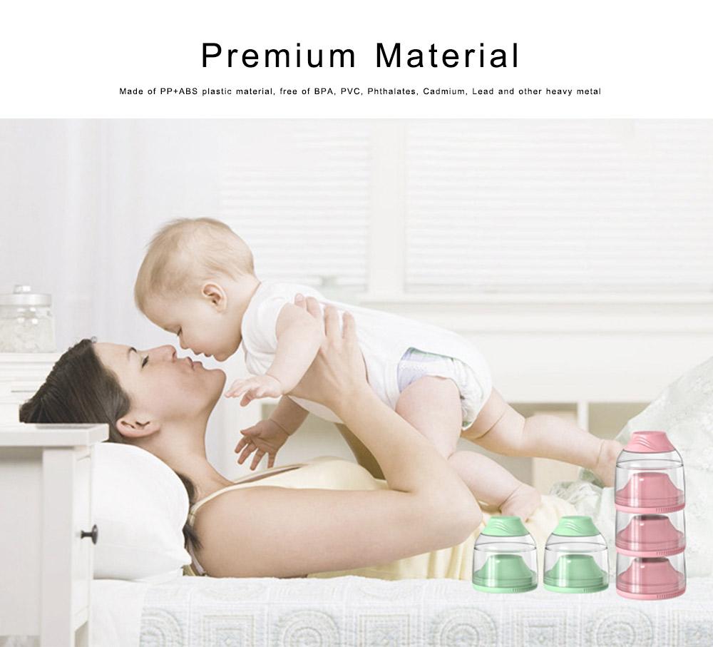 Milk Powder Container 3 Separated Layers Milk Powder Pot Box Portable Formula Milk Storage Dispensers for Infant Toddler Children 4