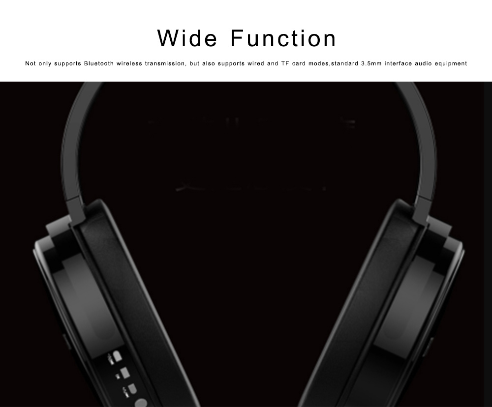 Bluetooth 4.2 Sport Headset Over Ear Headphones Lightweight Stereo Wireless Headphones earphone with 30-60m Transmission Range 6
