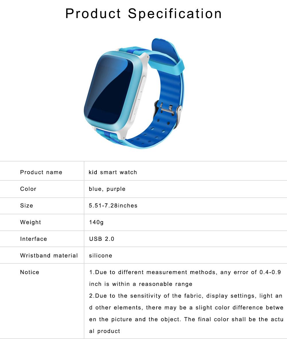 Children Teens Smart Watch, Waterproof GPS Smartwatch Phone with Phone Call, SOS, Remote Monitoring, Pedometer 6