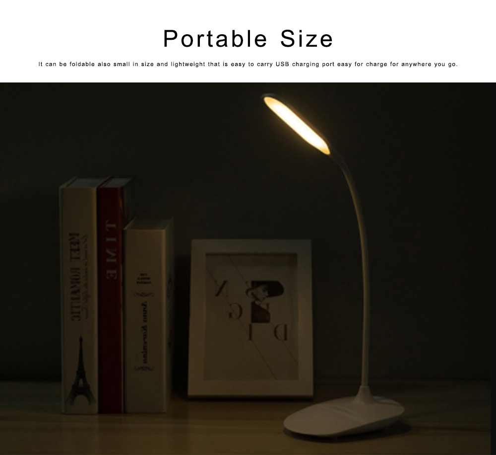 LED Reading Light for Working, Studying, Multifunctional Rechargeable Touching Desk Light Adjustable Table Lamp Bedside Lamp for Home Decor 4