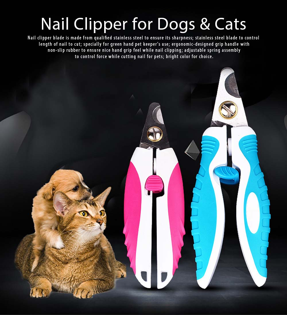 Bright Color Nail Clipper for Dogs & Cats Cat Nail Clippers Nail Scissors Dog-Cat-Dedicated Nail Grooming Tools 0