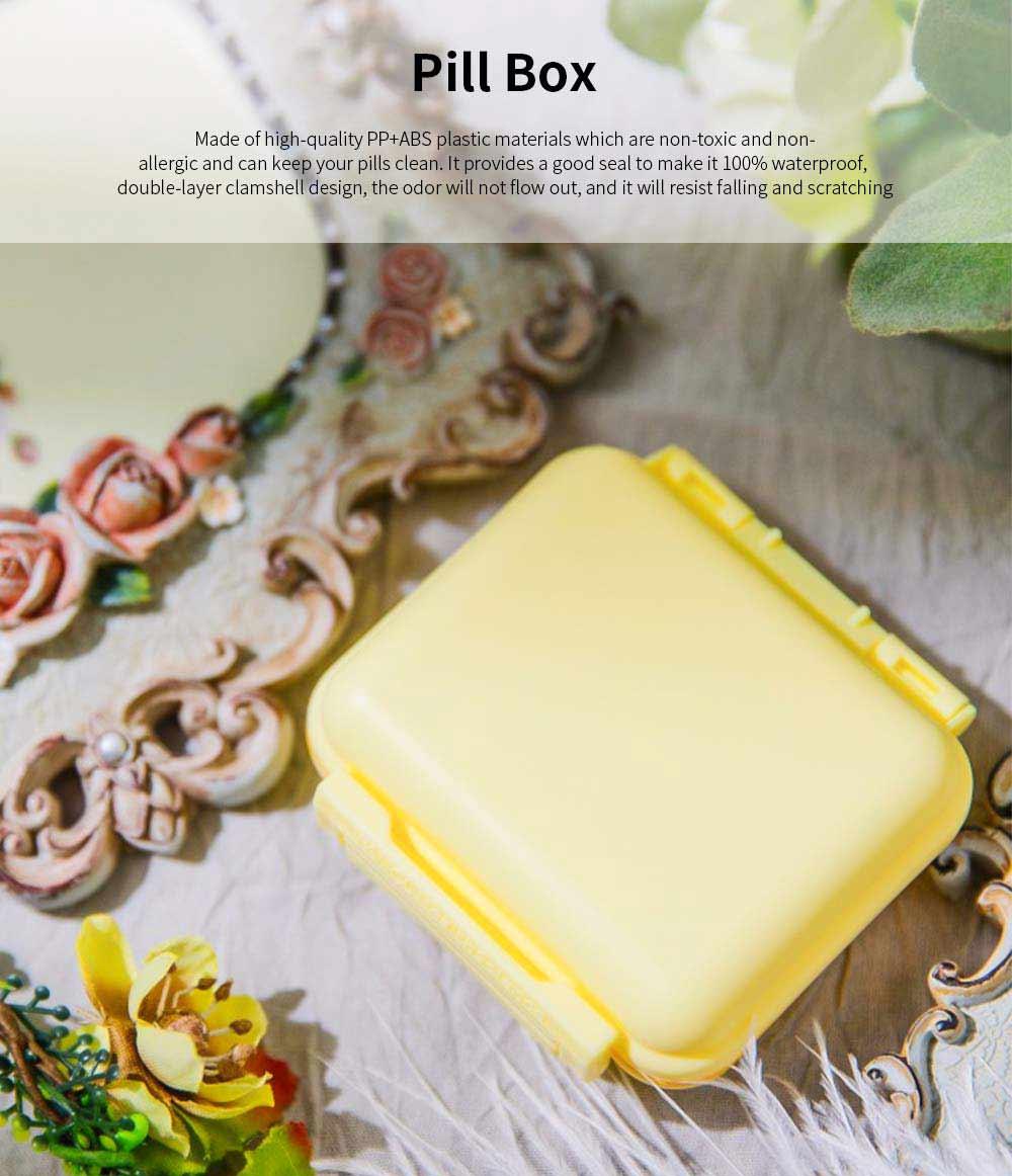 Square Pill Box Fashion Double-layer Plastic Pill Box Case 6 Small Boxes Pill Organizer Portable Tablet Holder 0
