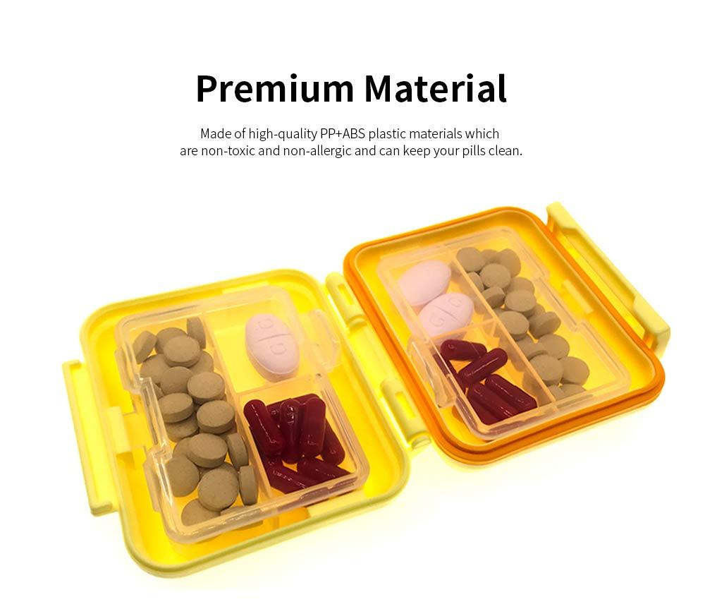 Square Pill Box Fashion Double-layer Plastic Pill Box Case 6 Small Boxes Pill Organizer Portable Tablet Holder 3