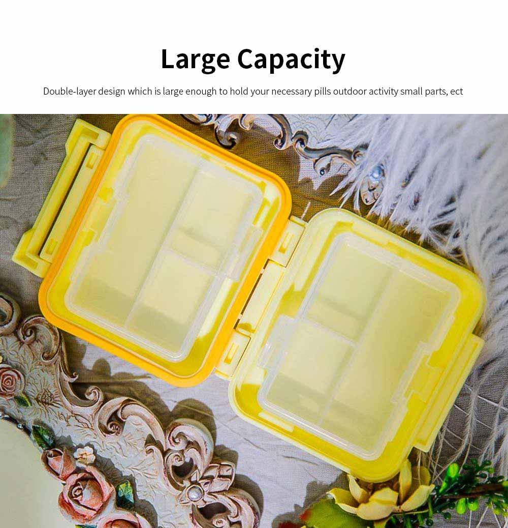 Square Pill Box Fashion Double-layer Plastic Pill Box Case 6 Small Boxes Pill Organizer Portable Tablet Holder 4