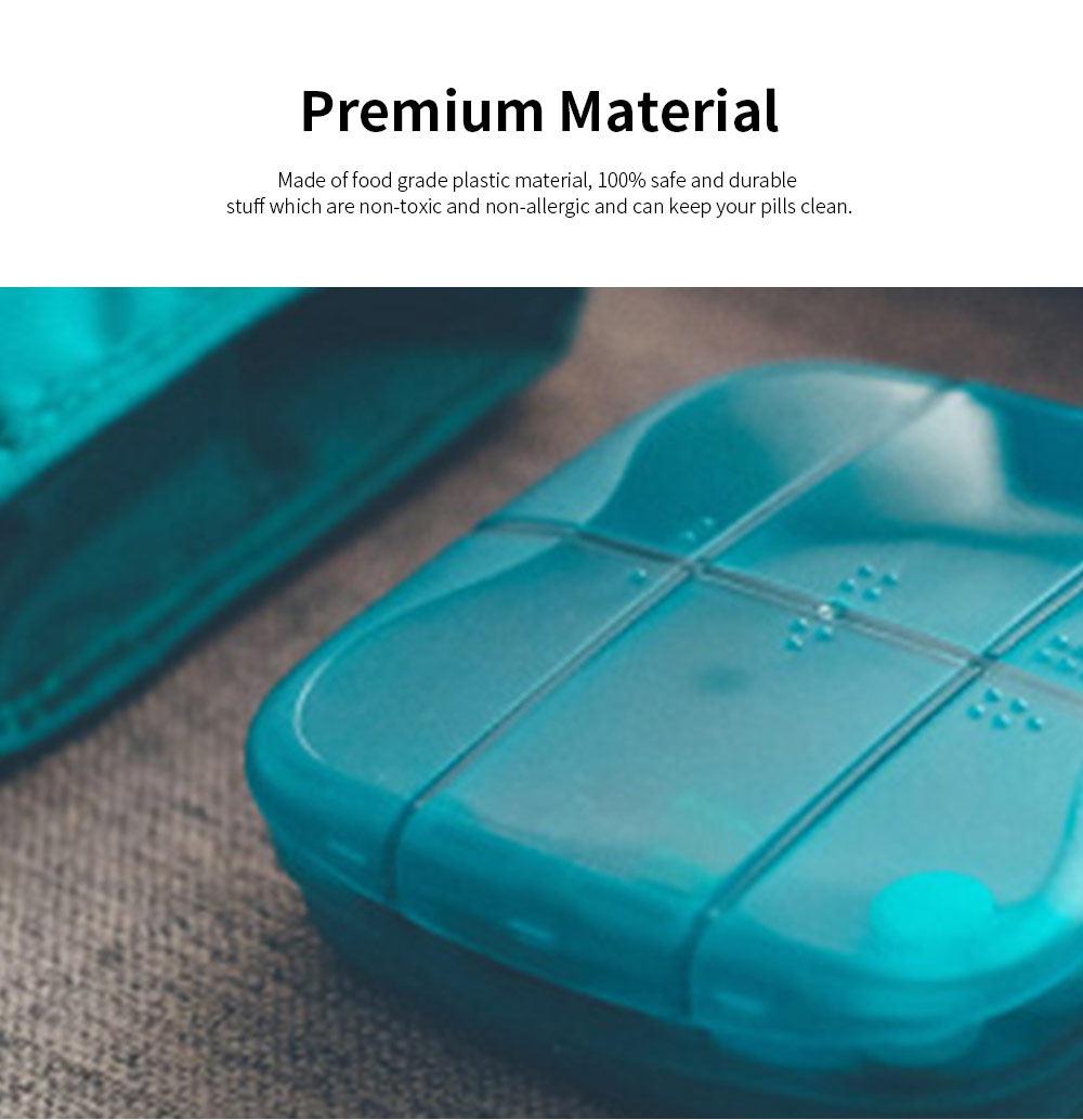m square Travel BPA Free Plastic Pill Box Case 6 Compartments Pill Organizer Portable Tablet Holder 3