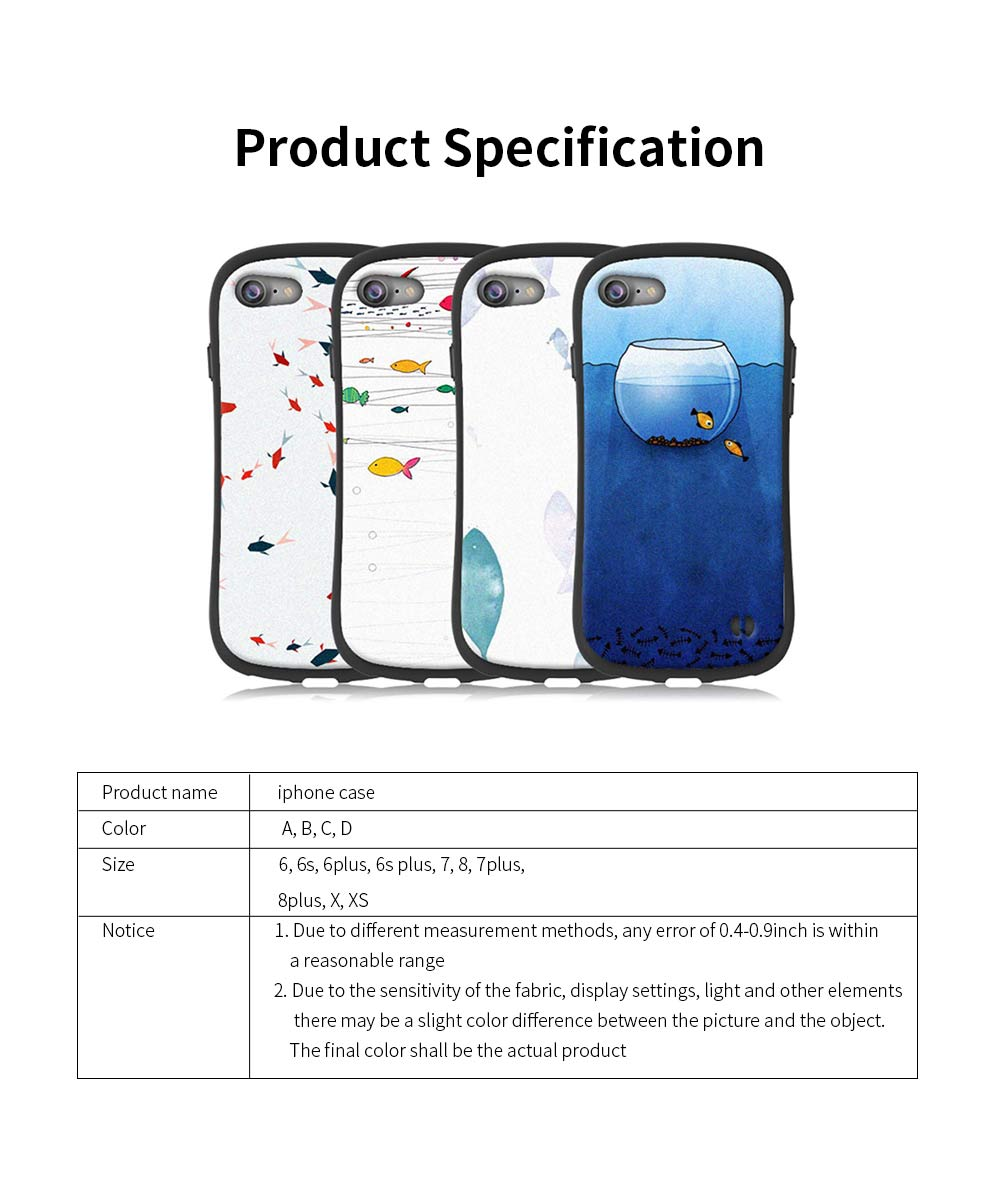 Creative Phone Case Anti-scratches Anti-impact Back Case Cover Soft Silicone Phone Protector for iPhone 6s, 6s plus, 7plus, 8plus, XS 6