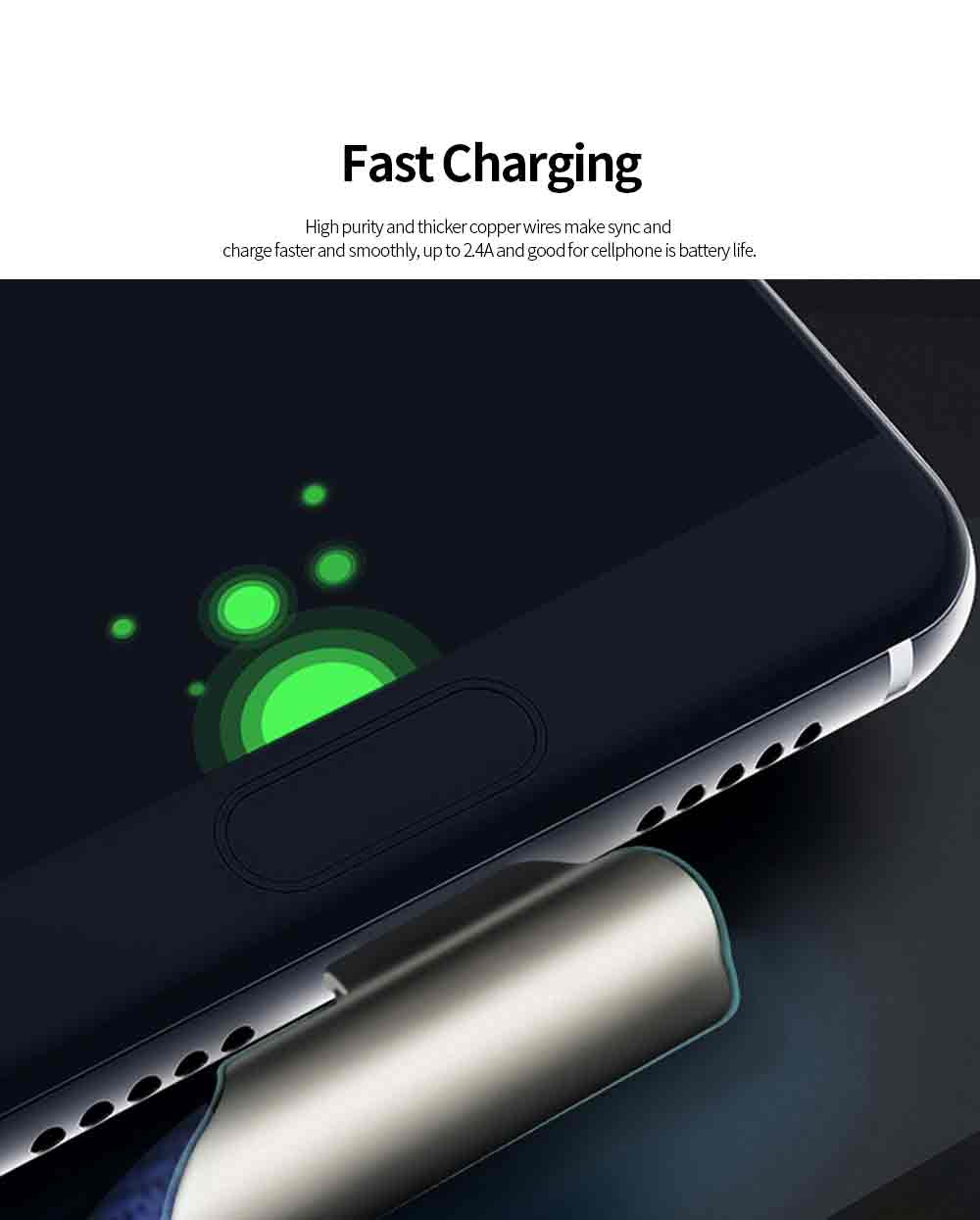 1M Apple Android Type C Date Cable Durable Fast Charging Nylon Braided Charging Cord for iPhone Android Devices 2