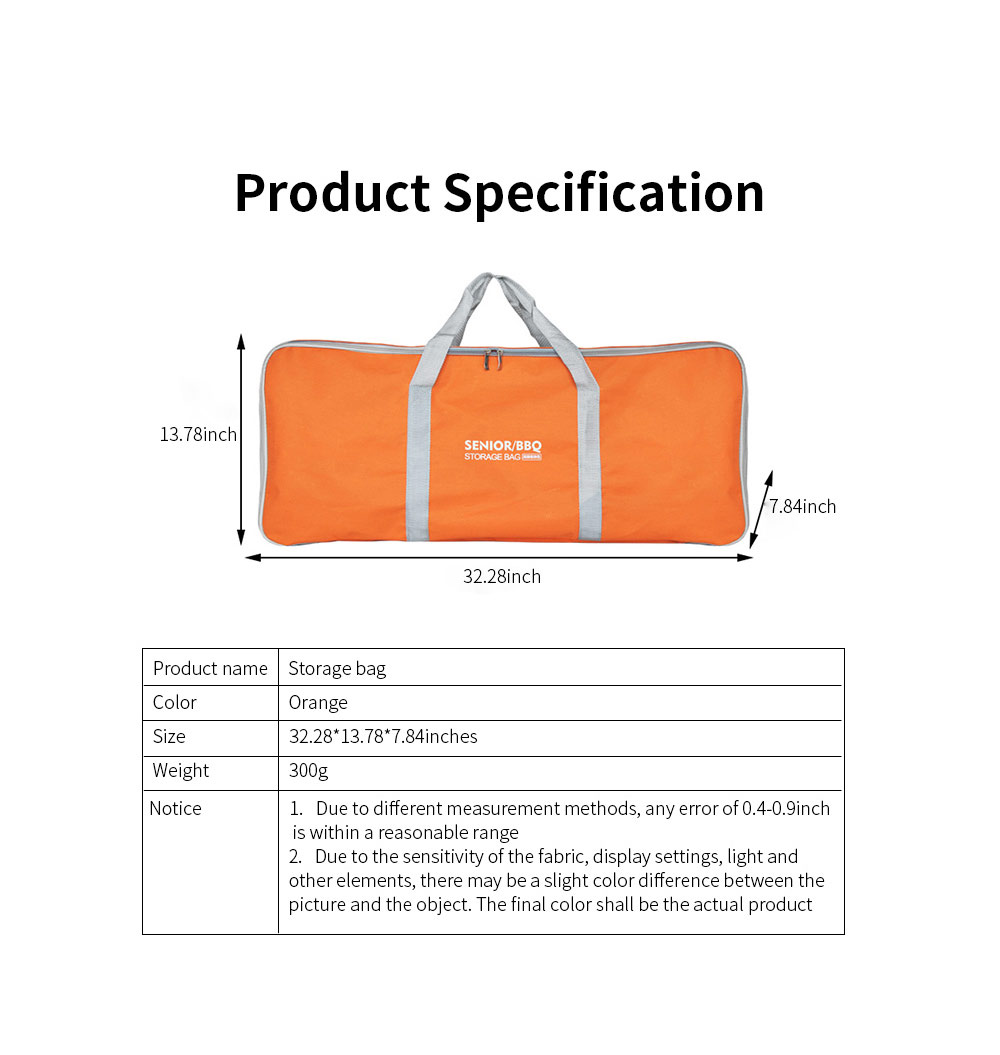 Outdoor Camping Tools Storage Bag Thicker Oxford Cloth Large Capacity Handbag Camping Site Portable Organizer 6