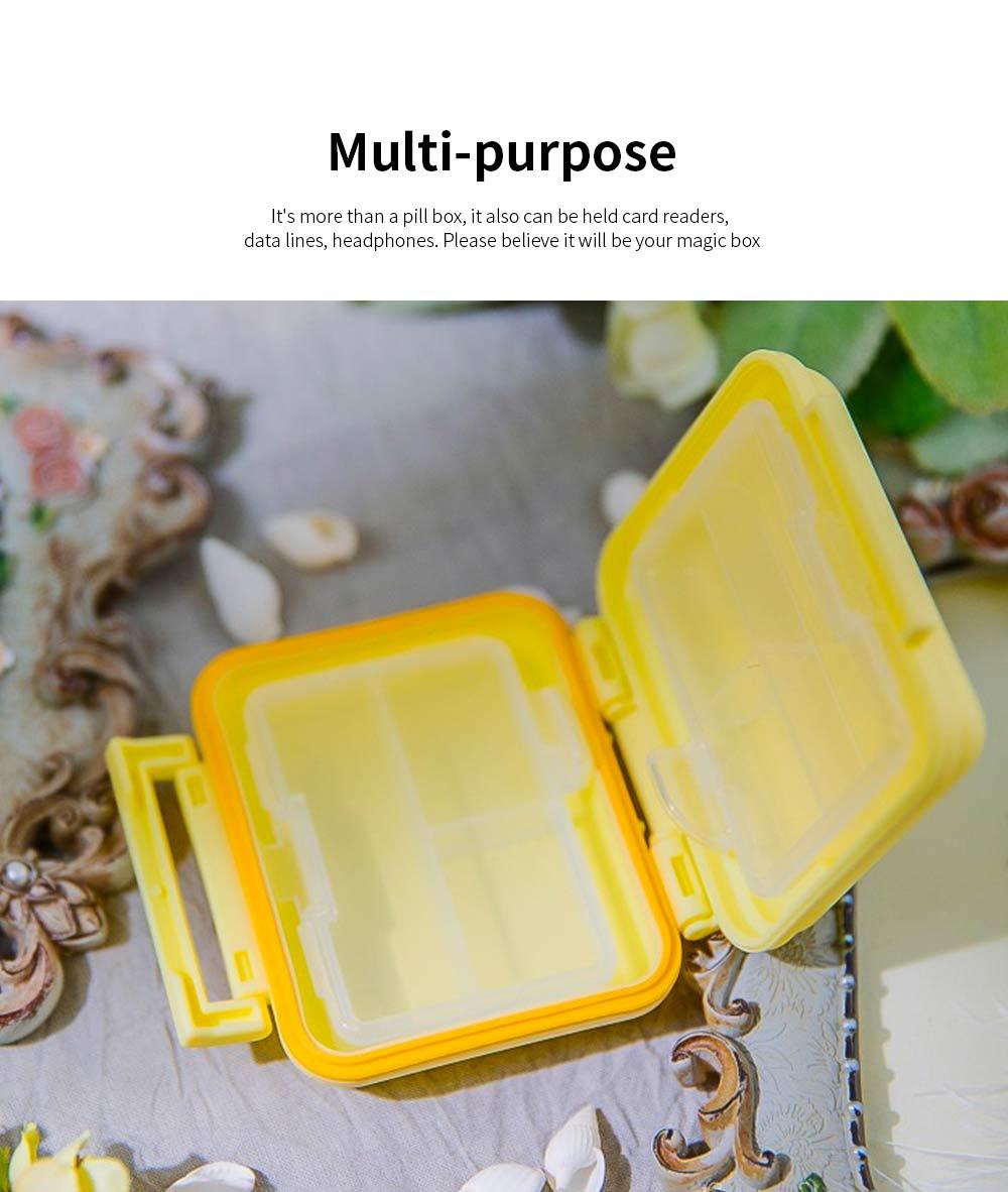 Square Pill Box Fashion Double-layer Plastic Pill Box Case 6 Small Boxes Pill Organizer Portable Tablet Holder 5
