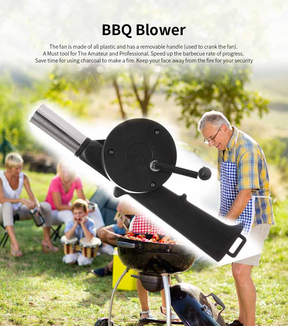 Portable Manual Air Blower Outdoor Cooking BBQ Micro Air Blower Burner for Barbecue Picnic Travel Lighter Tools 0