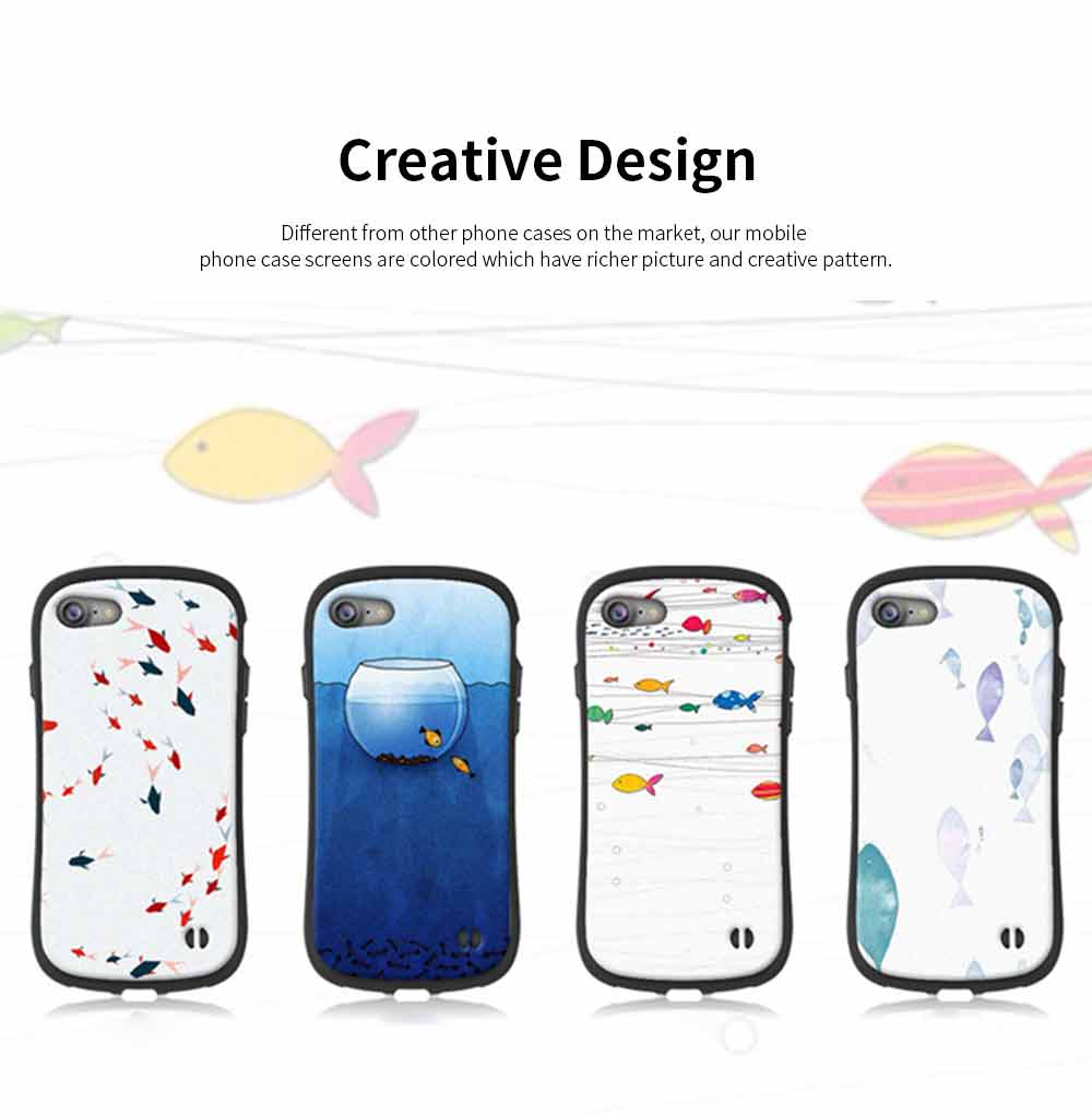 Creative Phone Case Anti-scratches Anti-impact Back Case Cover Soft Silicone Phone Protector for iPhone 6s, 6s plus, 7plus, 8plus, XS 1