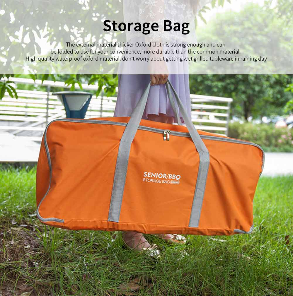 Outdoor Camping Tools Storage Bag Thicker Oxford Cloth Large Capacity Handbag Camping Site Portable Organizer 0