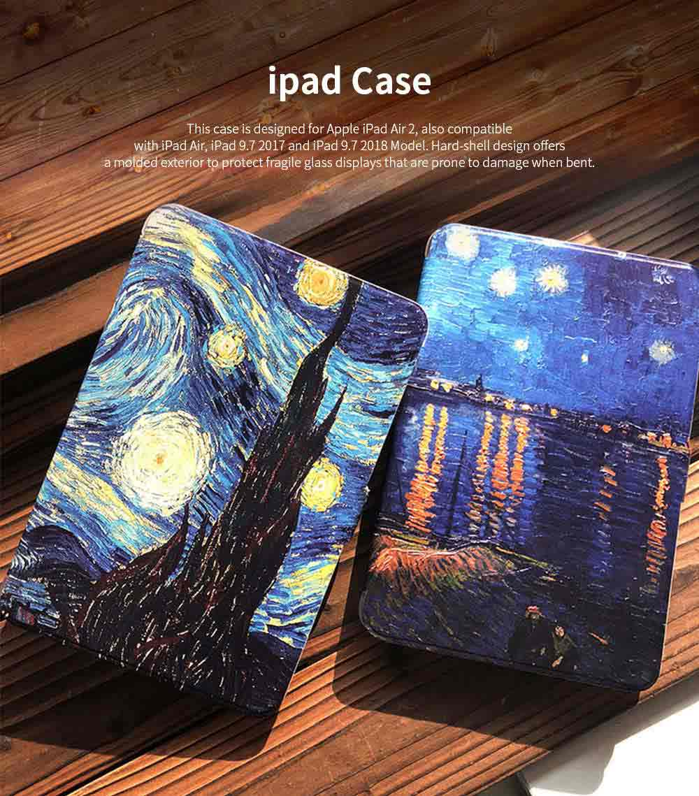 iPad Air 2 Case Multiple Angles Stand Smart Protective Cover Creative Starry Nightfor iPad Air 2, iPad 9.7 inch mini 1 2 3 4 0