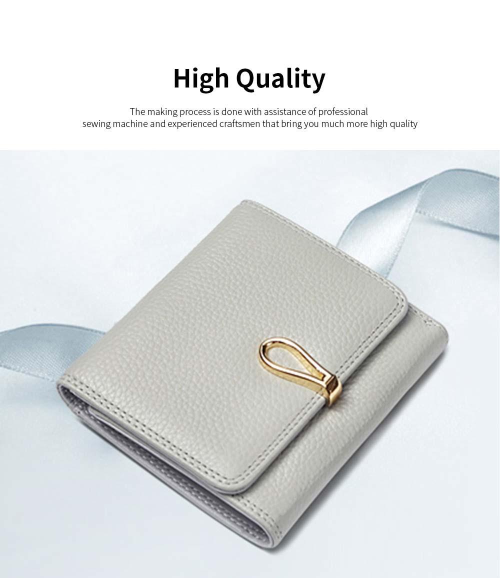 Premium Women Short Purse Multi-layer Cowhide Fashion Wallets Bifold Vintage Money Clip Gifts for Women Girl 1