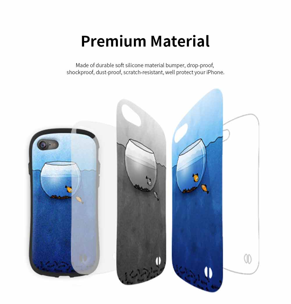 Creative Phone Case Anti-scratches Anti-impact Back Case Cover Soft Silicone Phone Protector for iPhone 6s, 6s plus, 7plus, 8plus, XS 3